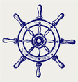 Wheel marine wooden vector image