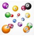 Billiard Balls Background vector image