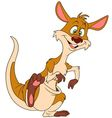 cute cartoon kangaroo vector image