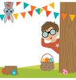 Egg Hunt vector image