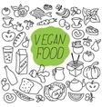 fresh food Healthy eating Fish and vector image