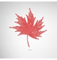Maple Leaf Lined vector image