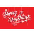 merry christmas ball balls vector image