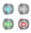 on buttons silver vector image
