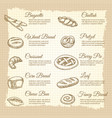 vintage poster with popular bakery products vector image