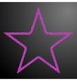 Frame Pink Sequins Star Glitter Sparkle vector image