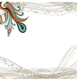 Flower ornament element on striped background vector image vector image
