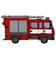 Red fire truck vector image