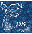 Blue christmas card 2014 vector image vector image