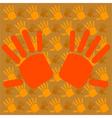 Hands background vector image vector image