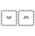 Set openwork floral frame for design vector image