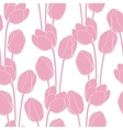 Abstract floral with tulips on pink background vector image