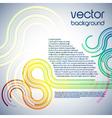 Digital wave documents vector image vector image