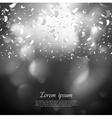 Black and white confetti background vector image