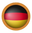 Flag of germany in round icon vector image