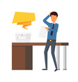 paper work at office business man making a report vector image