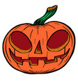 pumpkin drawn for halloween vector image
