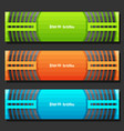 set of banner templates vector image