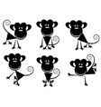 small images of monkeys vector image