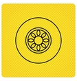 Car wheel icon Automobile service sign vector image