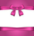 Elegance pink wrapping with ribbon bow vector image