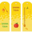 Set of honey labels badges and design elements for vector image vector image