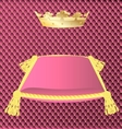 cushion and crown vector image