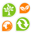 eco sticker collection vector image vector image