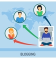 Business concept blogging vector image