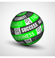 Abstract Business technology sphere of ideas vector image