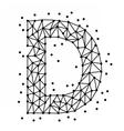 AlphabetOfPointsD vector image