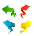 arrow web banners vector image