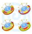 cartoon flying saucers vector image
