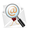 Concept - search e-mail vector image