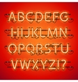 Glowing Neon Red Alphabet vector image