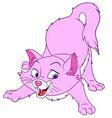 graceful cartoon cat vector image