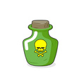 Magic Bottle with a skull Medical bottle with a vector image