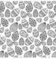 seamless black and white texture with contour vector image