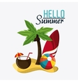 Summer design Vacation icon Colorful vector image