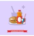 sweet soda flat design vector image