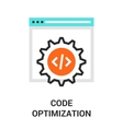 code optimization icon vector image