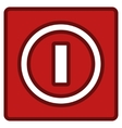 Turn Off Switch Toolbar Icon vector image
