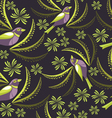 Seamless pattern with birds hand-drawing vector image vector image