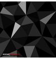 Origami texture black vector image