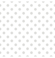 Tile pattern grey polka dots on white background vector image vector image