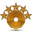 3d classic royal symbol sophisticated golden round vector image