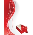Greeting card with gift box vector image