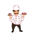 confectioner isolated vector image vector image