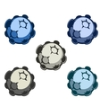 cartoon asteroids in different vector image
