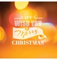 Christmas Calligraphic Card - for invitation vector image